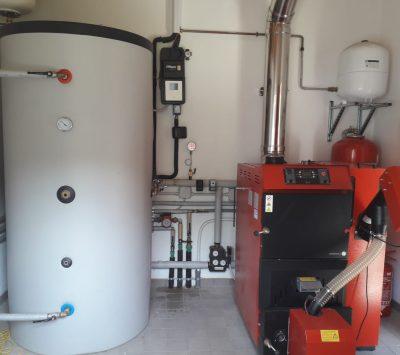 Centrale termica con caldaia pellet